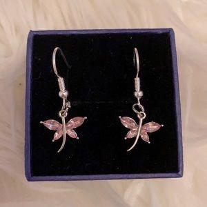 Hand made little butterfly dangly earrings